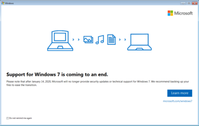 Windows 7 - Fin Soporte - 14 enero 2020